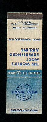 PAA PAN AM AIRWAYS MATCHBOX LABEL ANNI '50 AVIAZIONE AERONAUTICA AIRLINES