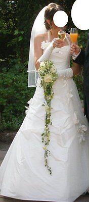 Hochzeitskleid Rembo mit Schleier und Handschuhen, Gr.34/36, Rembo Styling