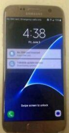 Samsung s7 gold platinum 64gb +gadgets