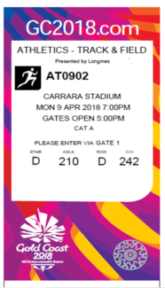Commonwealth games Athletics super final tickets