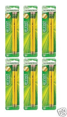 12 Dixon My First Ticonderoga 2 Pencils With Erasers Pre-sharpened 3330613308