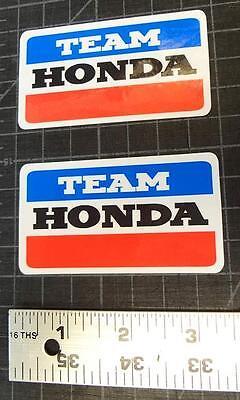 2X Vintage Team Honda 3 25  Decals Stickers Graphics Atv Atc Cr Z50 200E 125