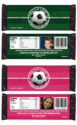 Soccer Party Games (12 Soccer Game Birthday Party Favors Personalized Candy)