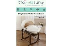 Moses basket and stand. Will sell separately.