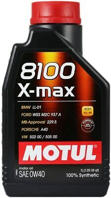 1 Lt Olio Motore Motul 8100 X-Max 0w40 100% Sintetico Acea A3/B4 LL-01 MB 229.5