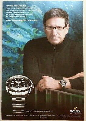 ROLEX DEEPSEA WATCH PRINT AD MAGAZINE ADVERTISING WITH DAVID DOUBILET