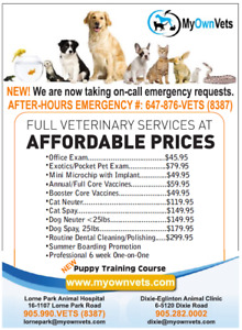 VERY AFFORDABLE VETERINARIAN WITH TWO LOCATIONS