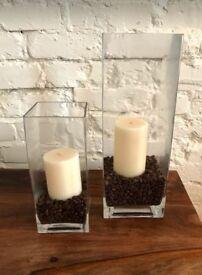 4 x Beautiful Glass Vases