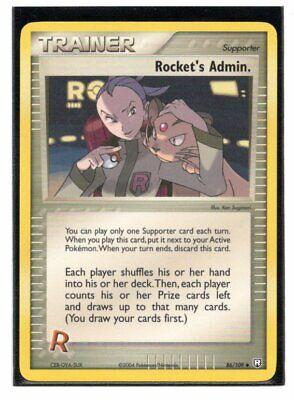 Pokemon Rocket's Admin. Trainer EX Team Rocket Returns 86/109 MP