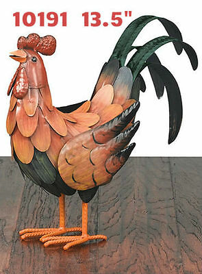 Garden Decor Bird Statuary - Golden Rooster Decor SM - Regal Art & Gift 10191
