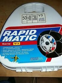 Snow chains rapid match new