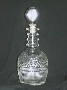 Vintage Tiffany & Co. Crystal Whiskey Decanter Seagrams 1776