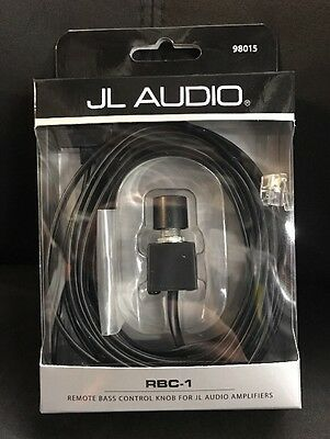 JL AUDIO RBC-1 BASS REMOTE CONTROL MOUNTED EQ BOOST AND CABLE FOR AMPS AMPLIFIER