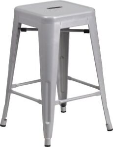 Brand New 3 Grey/Silver 24 inch Counter Stools $200