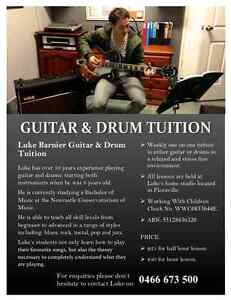 LUKE BARNIER GUITAR AND DRUM TUITION Floraville Lake Macquarie Area Preview
