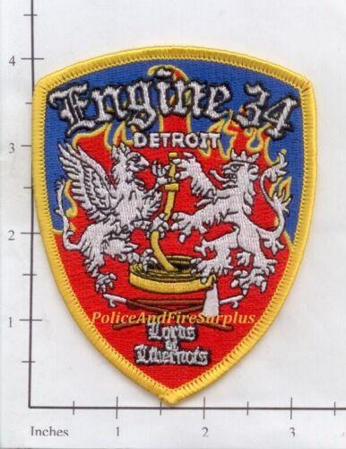 Michigan - Detroit Engine 34 MI Fire Dept Patch