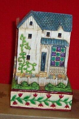 Jim Shore Farmhouse w/Tulips