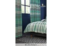 brand new teal check blackout eyelet curtains from next antrim
