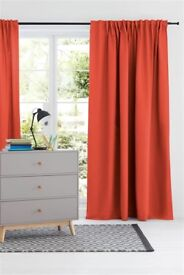 """brand new orange lined curtains from next full size 89 by 90"""" antrim"""