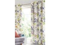 "brand new lined floral next curtains, 90"" length antrim"