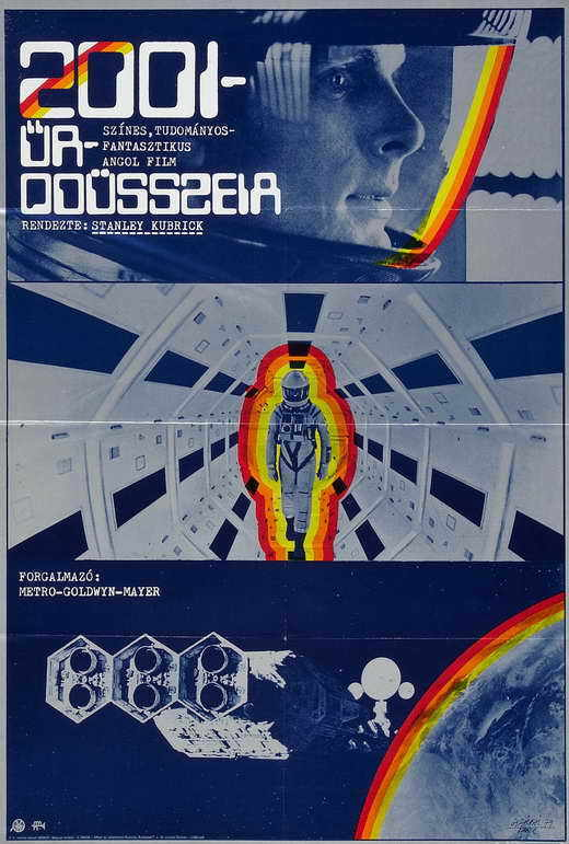 2001: A SPACE ODYSSEY Movie POSTER Hungarian 27x40 Keir Dullea Gary Lockwood