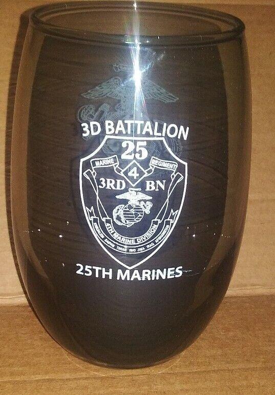 3D 3rd Battalion 25th Marines Regiment Glass USMC United States Marine CORPS