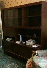Livingroom Display Cabinet - Pull Down Bar Area