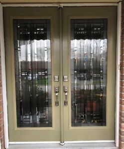 Decorative Door Glass inserts,wrought iron stain glass inserts