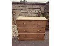 Old creamery solid pine chest of drawers