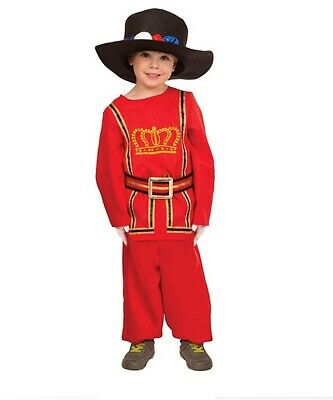 Victorian Soldier Costume (Boys Beefeater Fancy Dress Costume)