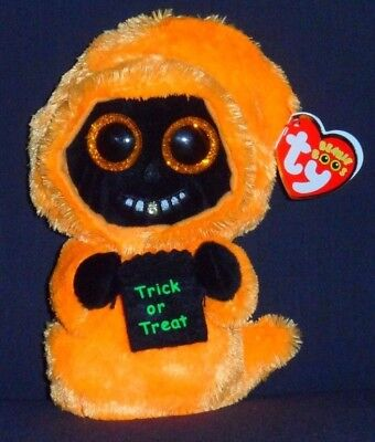 TY BEANIE BOOS - GRINNER the HALLOWEEN GHOUL - MINT with TAG - SEE PICS - Boo Halloween Pics