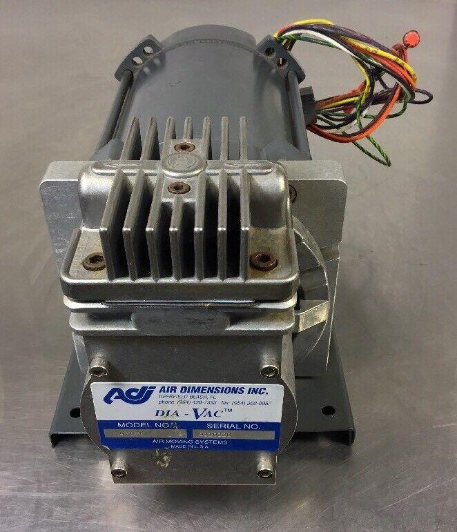 Air Dimensions Dia-Vac 19710T Pump W/ GE Motor 5KC39QN9959AX 1/6 HP    Bin#1