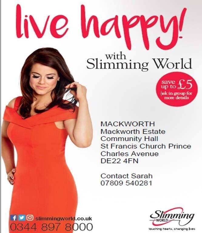Slimming World Mackworth Monday 7.30pm MECA ST Francis Church, Prince Charles Avenue Mackworth