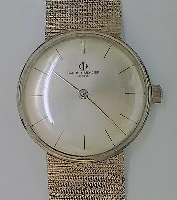 14k gold Men's Watch -Baume Mercier- Vintage in working condition