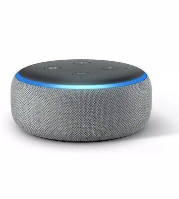 Amazon Echo Dot 3rd Generation w/ Alexa Voice Media Device - Charcoal (in 🤚🏻)