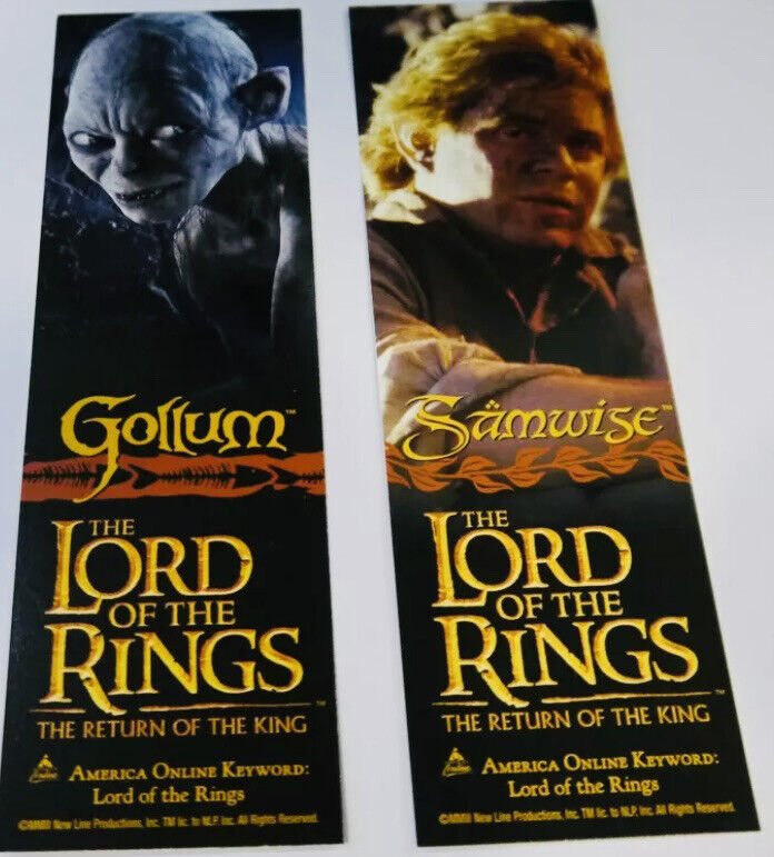 Promo Lord of the Rings Samwise & Gollum 2sided bookmark Return of the King LOTR