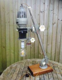 Vintage lighting - repurposed industrial lighting desk lamp