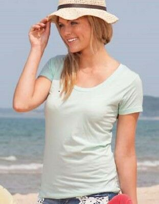 Essential Scoop Neck Short - Enza Ladies Essential Short Sleeve Scoop Neck Tee 4X
