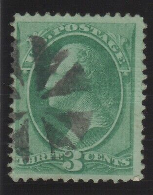SSS: US Stamp Scott # 136  1870  3c  Washington  Used