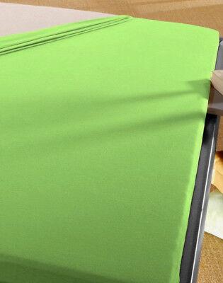 Baby Spann Betttuch 70x140 cm Jersey Baumwolle apfel grün