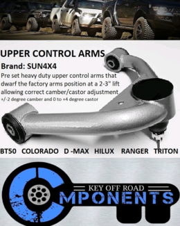"Upper control arms  for 2-3"" lifted vehicles"