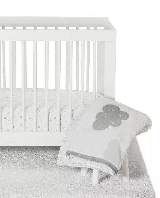 CLOUD ISLAND In the Clouds 4 Pc Nursery CRIB BEDDING SET Baby Gray Platinum