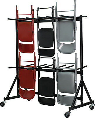 Folding Chair Dolly (Hanging Chair Cart Dolly 80 to 120 Chair Capacity - Steel Folding Chair)