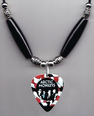 Arctic Monkeys Band Photo Guitar Pick Necklace #5