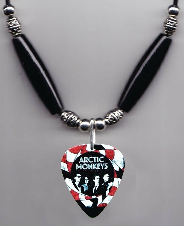 Arctic Monkeys Band Photo Guitar Pick Necklace #5