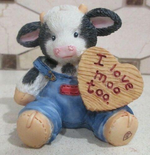 "Enesco Mary Moo Moos 1994 ""I Love Moo Too"" Figurine #104728"