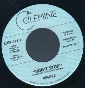 Rare First Issue Modern Soul - Orgone - Don't Stop -  Colemine 7