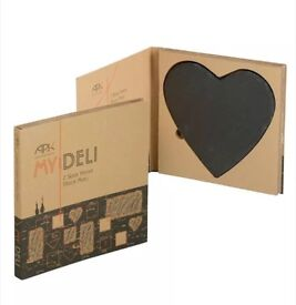 New Designer Slate Place Mats Table Mats Heart Shaped Romantic Valentines Gift by Arthur Price