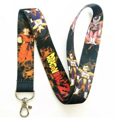 - New! Dragon Ball Z Anime Lanyard Keychain ID Holder DBZ Vegeta Goku Characters