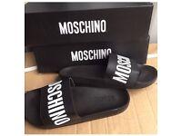 Brand New Mens Moschino Sliders UK Sizes 7-11